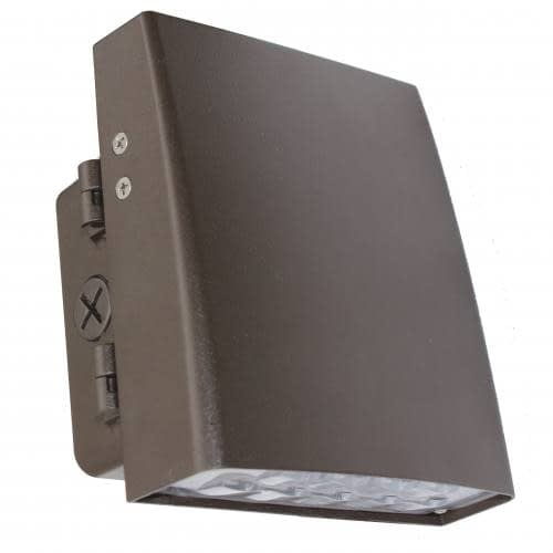 "LEDWPCA50W hinge adjustable full cutoff wall pack, 50W, 11""x6"" aluminum housing, impact resistant PC lens."
