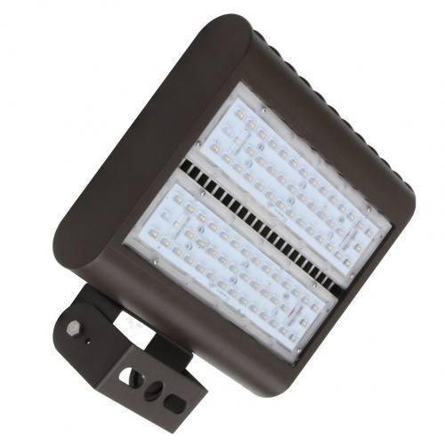 "LED Area Light LEDMPAL150, 150W flood and street light, 13""x10"", aluminum housing with heat resistant PC lens."