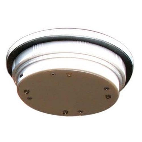 Solar Pod Light SPL65 4-inch diameter hockey puck size solar lantern, 4 LED cluster, solar panel top. Photosensor activation.