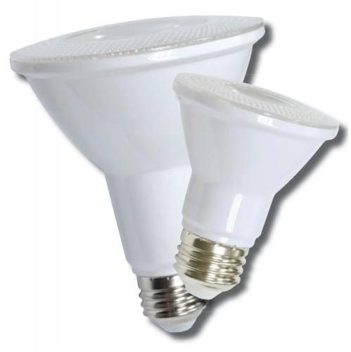 12-LEDPAR38-13W-D PAR shape 9W LED dimmable light bulb. Edison E-26 medium screw base fits standard socket.