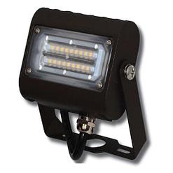 """LED Floodlight LEDMPAL15. DIMS 5""""x4"""", 15W, aluminum housing with heat resistant PC lens."""