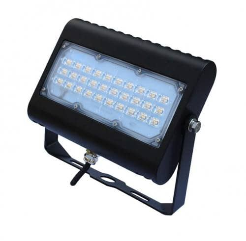 "LED Floodlight LEDMPAL50. DIMS 9""x6"", 50W, aluminum housing with heat resistant PC lens."