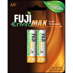 Fuji Battery 9300BP2, AA Rechargeable NiMH, Case quantities 96 cells. Blister pack contains 2 batteries.