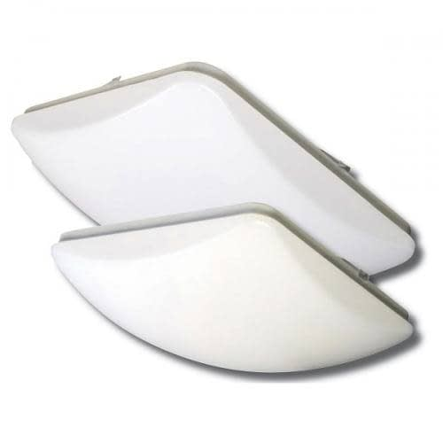 """LEDS11 dimmable 11"""" square dome light molded from thermoplastic. 1320lm at 14W with 2 CCT options."""