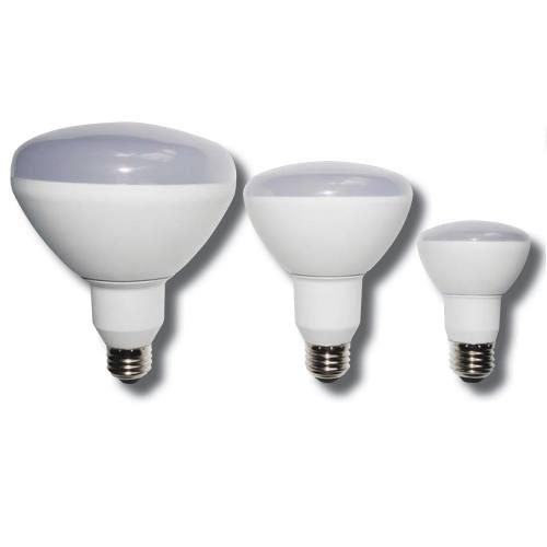 LED Light Bulb 12-LEDR20-7W BR shape 7W LED dimmable light bulb. Edison E-26 medium screw base fits standard socket.