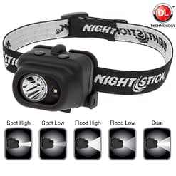 NSP-4608B Dual-Light Headlamp Hands free versatile lighting.