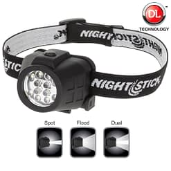 NSP4602B Dual Light Headlamp. Spot Flood operate individually or simultaneously.