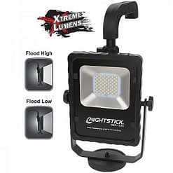 NSR-1514 Battery Power Floodlight Portable LED light, adjustable top handle, multi-angle swivel fixture and magnetic base.
