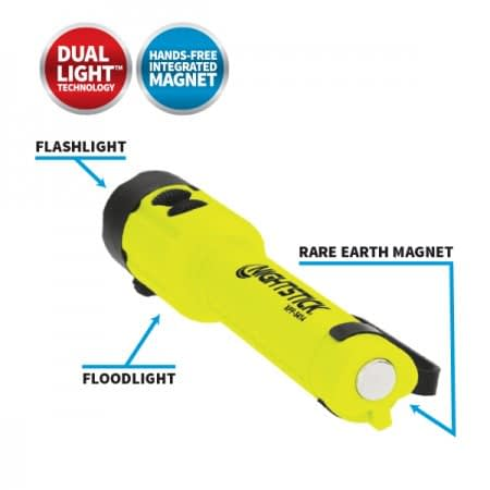 XPP5414GX Intrinsically Safe Flashlight Safely operates in explosive gas or dust atmospheres.