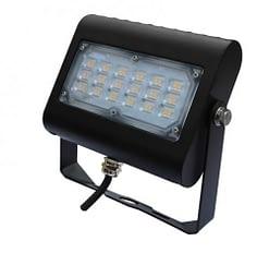 """LED Floodlight LEDMPAL30. DIMS 5""""x7"""", 30W, aluminum housing with heat resistant PC lens."""