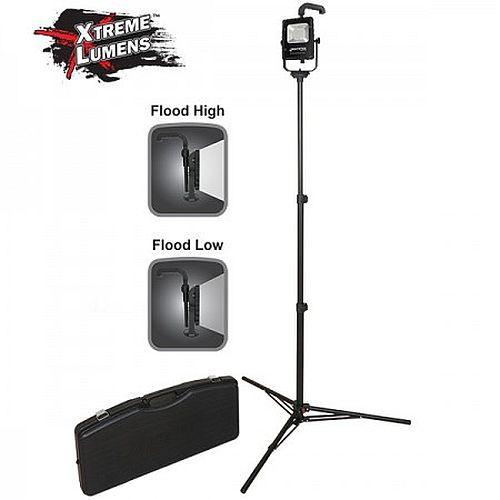 NSR-1514C Battery Power Floodlight Portable LED light, adjustable top handle, multi-angle swivel fixture Tripod and Case.