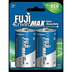 Fuji Battery 1100BP2, Heavy Duty D, Case quantity 96 cells, Blister pack 2